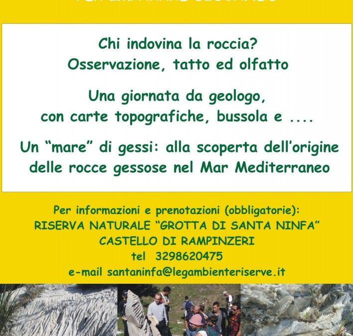 """Laboratorio didattico """"A scuola di geologia"""" nel Castello di Rampinzeri"""